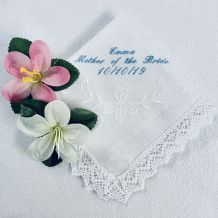 Personalised Handkerchief with lace trim